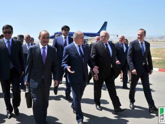 Делегация из Азербайджана прибыла в Махачкалу для участия в торжествах, посвященных 100-летию Магомед-Салама Умаханова
