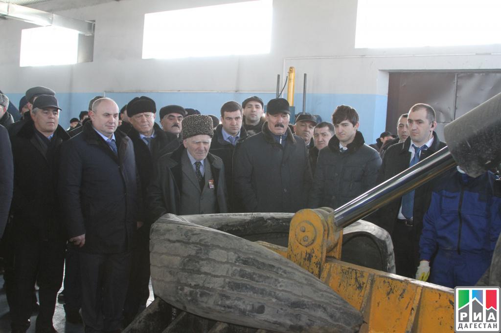 Завод попереработке иутилизации автомобильных шин запустили вДагестане