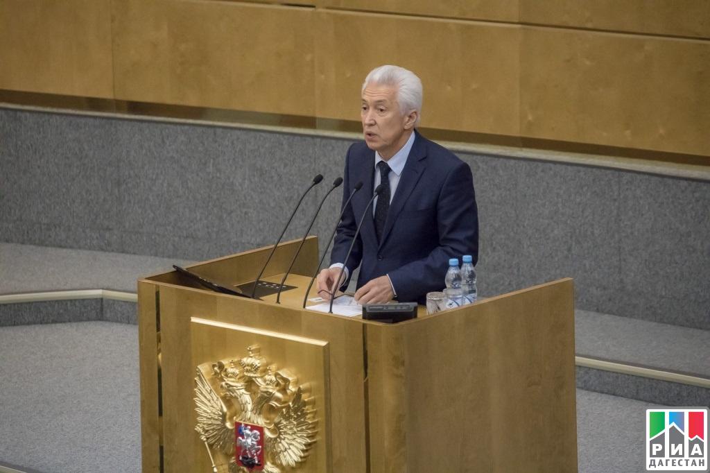 Врио главы Дагестана Владимир Васильев принял участие впленарном заседании Госдумы