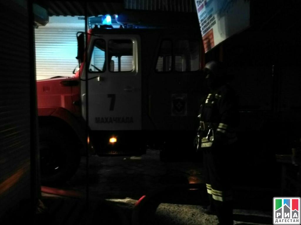Наодном изрынков Махачкалы произошел пожар