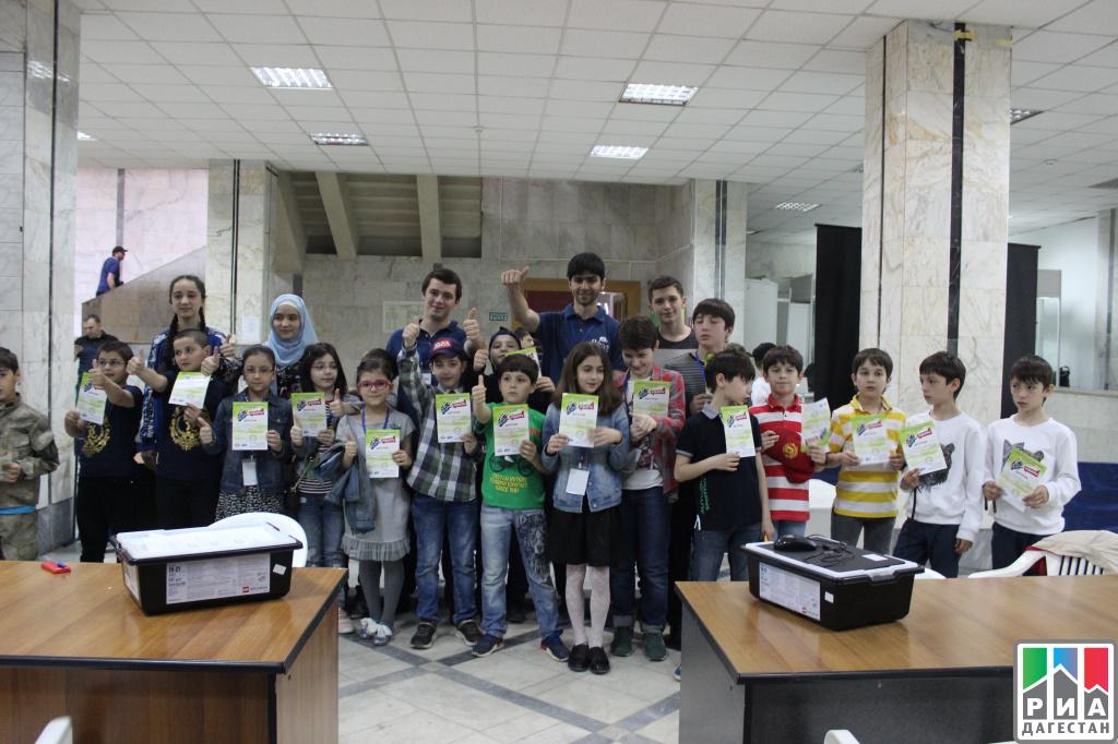 Дагестанские дети от5 до17 лет приняли участие всоревнованиях робототехники
