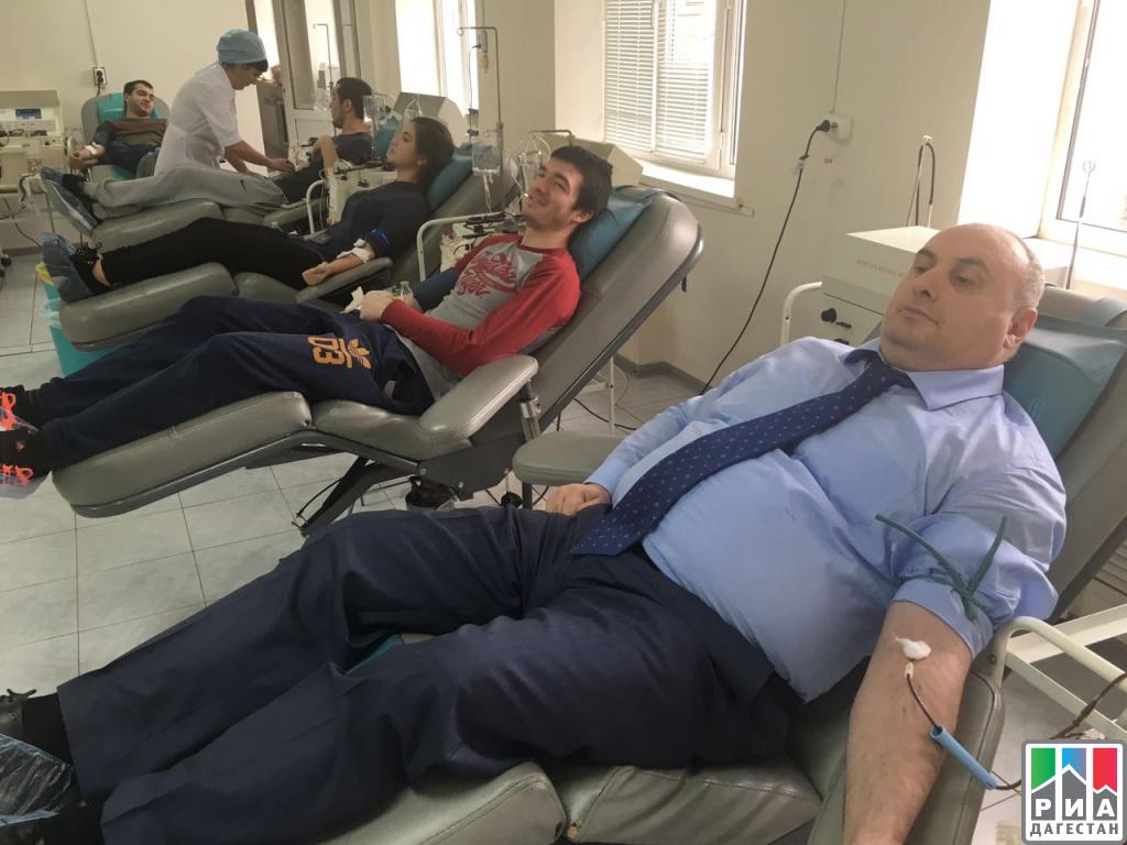 Муса Мусаев вкоторый раз стал донором крови