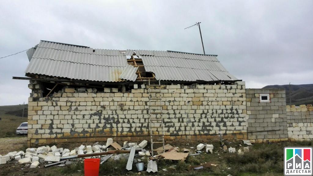 Взрыв газа разрушил личный дом вДагестане