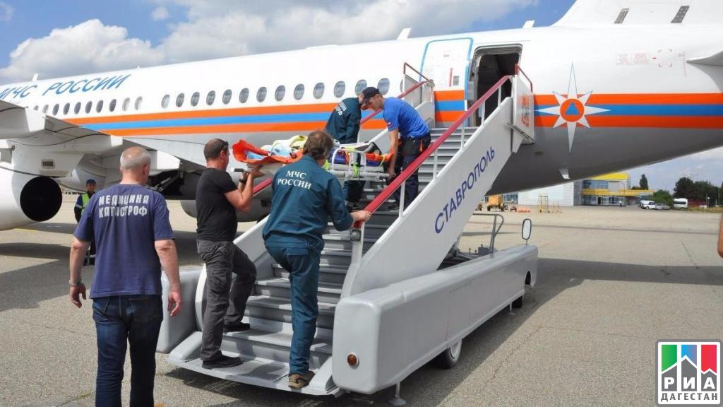 Спецборт МЧС доставил 3-х больных детей изДагестана налечение в столицу России