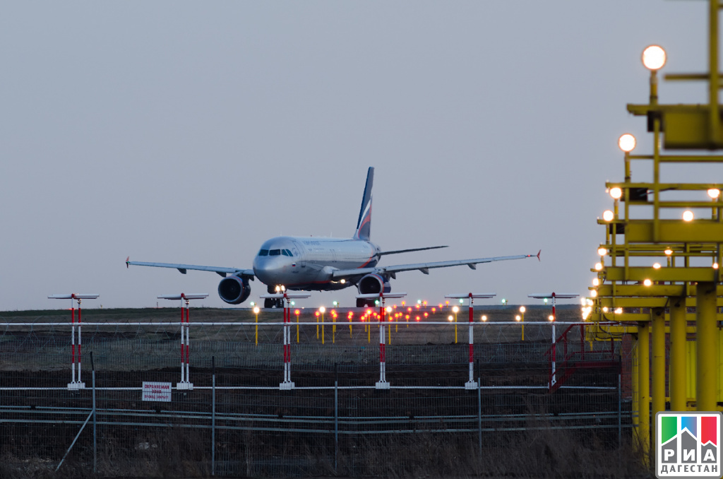 Ваэропорту Махачкалы всередине зимы 2017г.перевезли на7% больше пассажиров