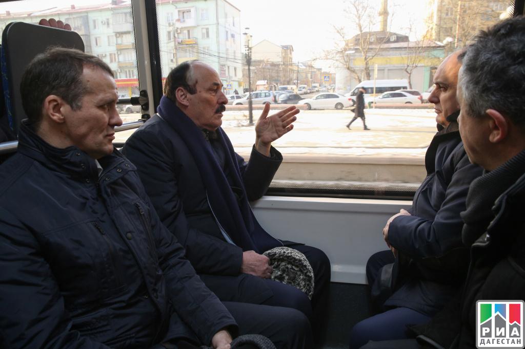 ВМахачкале запустили новейшую троллейбусную линию Махачкала-Каспийск
