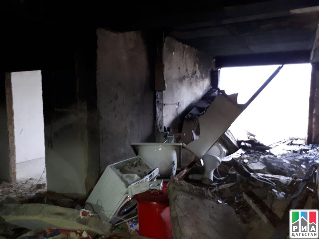 Взрыв бытового газа произошел вдесятиэтажном доме вМахачкале