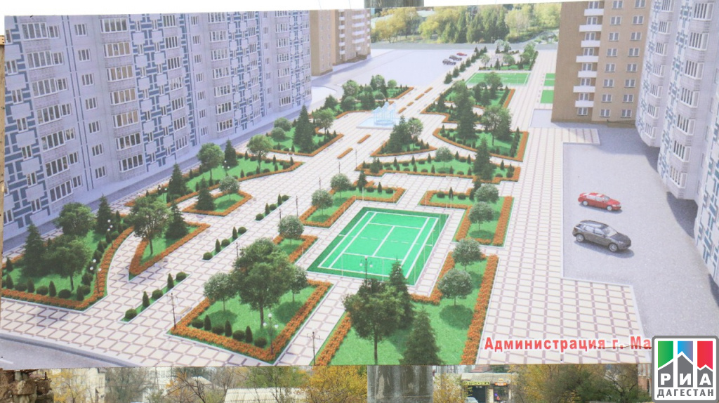 ВМахачкале началось строительство нового сквера протяженностью 350 метров